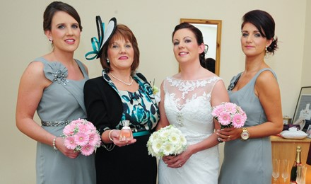 Nicola Patrick with Mother and Bridesmaids